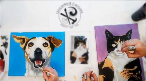 Paint Your Pet Portrait Paintings
