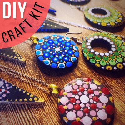Do-It-Yourself Mandela Jewelry Art Kit with Tutorial