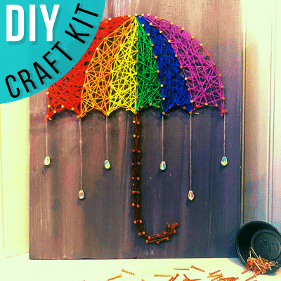 Spring Showers string art DIY kit
